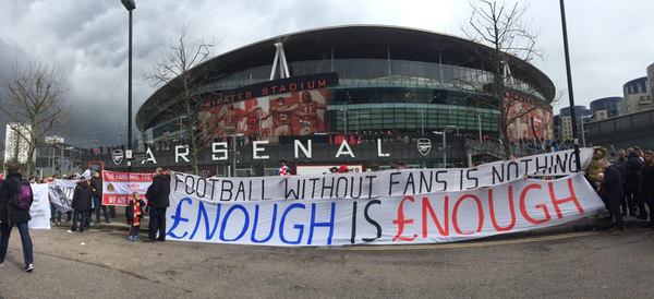 football-without-fans-is-nothing arsenal   Sports History & Culture